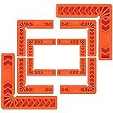 Proster Positionierungsquadrate 90° rechtwinklige Befestigungsklammer L-Typ Klemmer für Holzbearbeitung DIY Bilderrahmen Schubladen Schränke 10 Set(3 '4' 6 ')