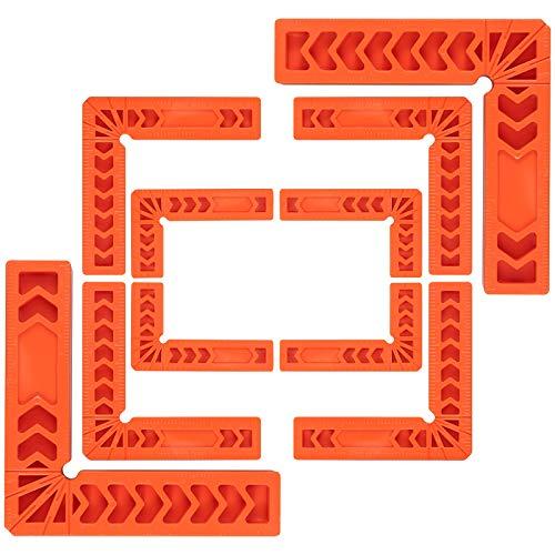 """Escuadras de Posicionamiento 10PCS Cuadrados de Posicionamiento Regla Angulo Recto 90Grados 3"""" / 4"""" / 6"""" tipo L Herramientas de Carpintería para Bricolaje Marcos Cajones Gabinetes"""