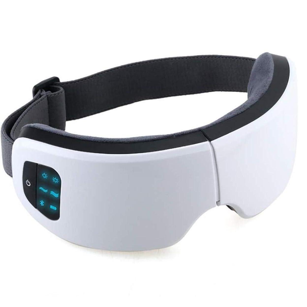 ビート鳴り響く買い手アイマッサージャー、音楽マッサージャー付き電動ポータブル指圧、加熱振動アイヘルスマッサージ、アイバッグダークサークルの改善、頭痛の緩和、スマートディスプレイ、充電式