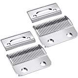 2 Sets Adjustable Clippers Blades, 2 Hole Hair Trimmer Replacement Blade for Wahl 1006, Super Taper #8400 (Silver)