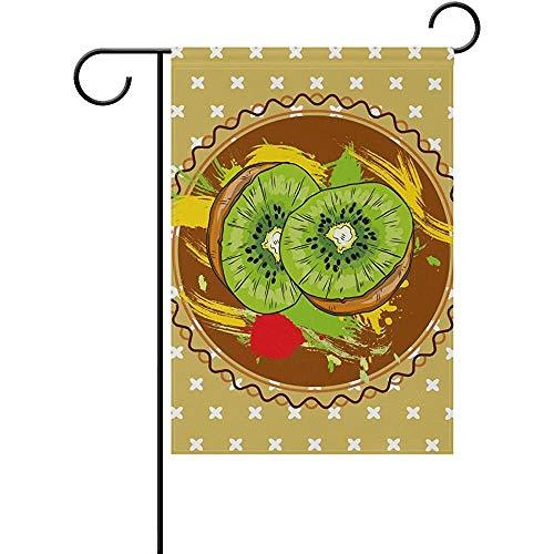 Hao-shop Art Citroen Tuin Vlag Decoratieve Banner voor Thuis Binnenplaats Bloempot Yard Outdoor