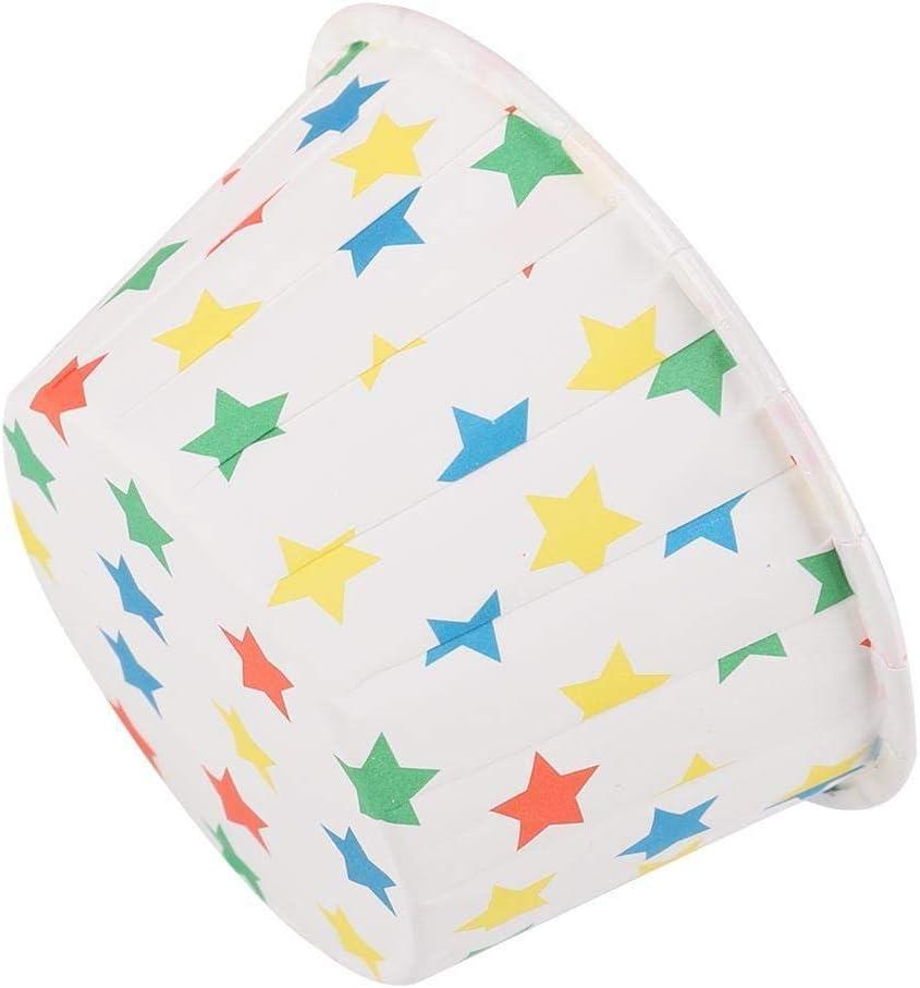 Yosooo 5 ☆ price very popular 50PCS Mini Cupcake Liners Paper Cake Mu Round Baking Cups