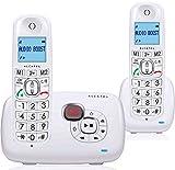 Alcatel XL 385Voice Duo schnurloses Telefon mit Anrufbeantworter, weiß