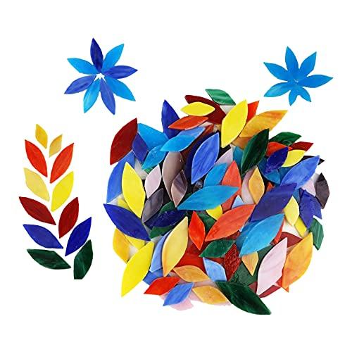 kowaku 100 Piezas de Azulejos de Mosaico para artesanías a Granel, baldosas de Vidrio de Colores Surtidos para la fabricación de mosaicos