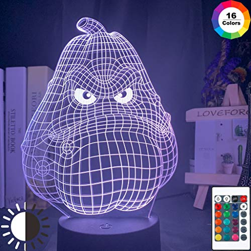 Plantas vs. Zombies Cabeza de patata dulce Holograma Cool Night Light 3D LED Lámpara de mesa niños regalo de cumpleaños decoración de la habitación junto a la cama