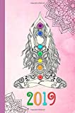2019: Yoga,Meditation, weekly planner,Agenda,Organizer, Chakra,week view,Simple,No frills pretty, Diary, Journal, 6x9,Portable size,Soft Matte cover