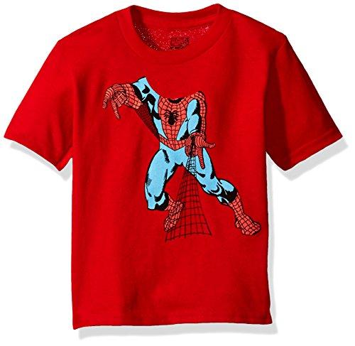 Marvel Toddler Boys' Spider-Man Short Sleeve T-Shirt, Red, 3T