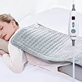 New Launch WOOMER XXX-Large 33'x17' Electric Heating Pad for Back Pain & Cramps Relief, Moist Therapy Function, 6 Heat Settings, 2H Auto Shut Off