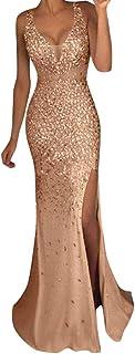 Sylar Mujeres V Cuello Lentejuelas Brillo Mini Vestido del Club Fiesta, Vestido de Mujer, Mujer Sexy Vestido Estampado Man...