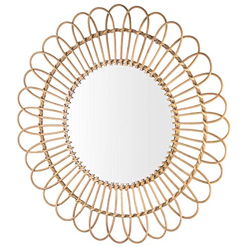 American Art Decor Woven Rattan Sunburst Accent Wall Mirror 25 Brown Buy Online In Aruba At Desertcart Productid 148339229