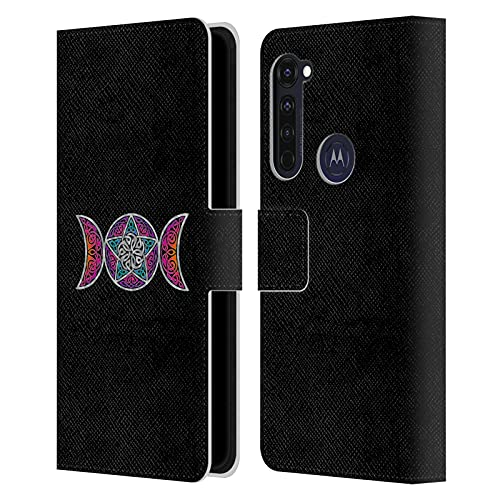 Head Case Designs Officially Licensed Beth Wilson Pagan Triple Moon Celtic Knot Stars Leather Book Wallet Case Cover Compatible with Motorola Moto G Pro/Moto G Stylus (2020)