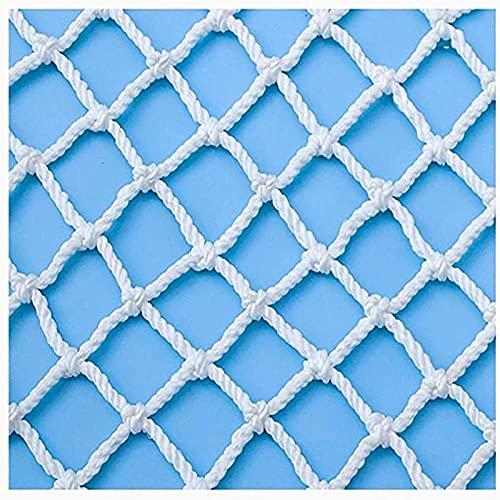 QYQS Barrera Seguridad Niños, Red De Protección Blanca, Red De Cuerdas para Escaleras, Balcones para Prevenir Lanzamientos De Gran Altitud(Size:2x3m(6x10ft),Color:Blanco)
