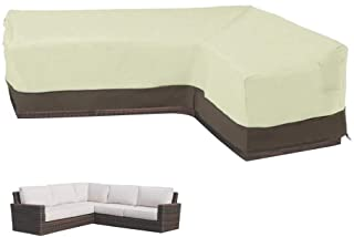 LBW L Shape Sectional Sofa Cover Right Facing Furniture Covers Garden Couch Cover Wear-Resistant Sectional Lounge Set Cove...