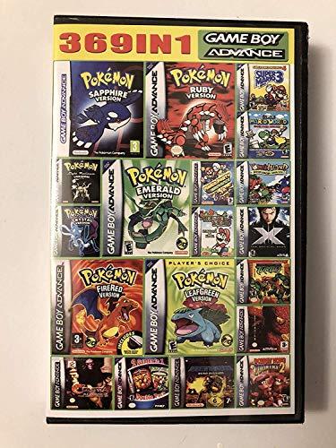 CMLegend 369 en 1 Meilleure Collection de Cartouches de Jeu Vidéo Multi-Cartouches Conçue pour GBA Game Boy Advance