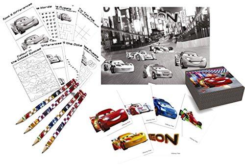 Disney Néon Cars Lot d'activité Sac Surprises, 4 Jeux