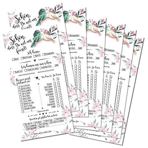 Partycards Hochzeitsspiel mit 52 Postkarten in DIN Lang (Verschiedene Designs) (52 Karten DIN lang, Hochzeitsspiel Vintage)