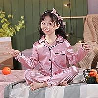 女の子用パジャマセット秋の長袖子供用パジャマセットシルクサテンパジャマ男の子用パジャマセット子供用子供用デイギフト