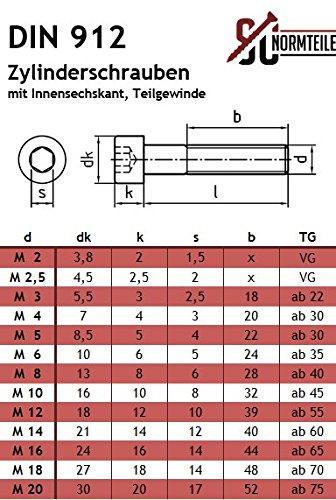 Eisenwaren2000 Zylinderschrauben mit Innensechskant M8 x 80 mm DIN 912 - Zylinderkopf Schrauben ISO 4762 Gewindeschrauben 50 St/ück Edelstahl A2 V2A- rostfrei