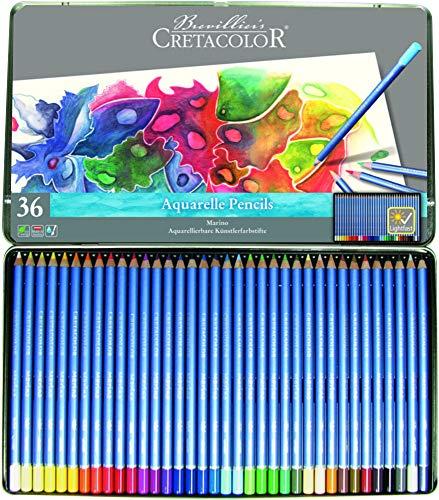 Cretacolor Marino Watercolor Pencil Tin of 36