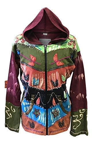 Shopoholic Mujer Grunge EMO Gótico Oxidado Hippy Sudadera con Capucha