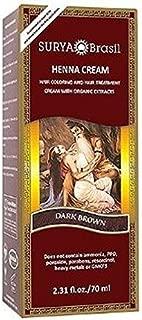 Surya Brasil Henna Hair Cream - Dark Brown 70ml (Pack of 3)