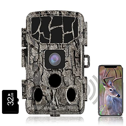 ZooTng 4K Wildlife Camera WLAN 30MP Hunting Camera with 38 LEDs, Super Night Vision, Mobile Phone Transmission, 0.3S Trigger, 3 PIR 120 ° Wide Angle, IP66 Waterproof