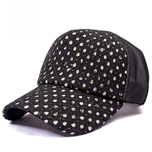 LZMZ2222 Sun Hat/Sombrero Mujer Verano Sombrero de Sol Sombrero Fresco Viaje Sol Sombrero Tapa Lengua Marea Red Sombrero Exterior Gorra de béisbol Sombrero para el Sol, Negro