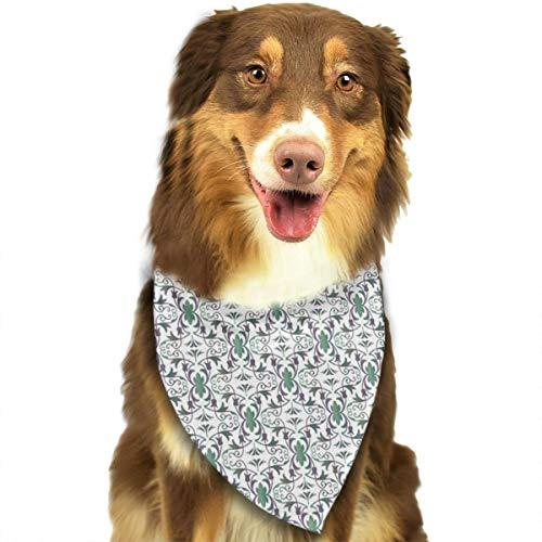 iuitt7rtree Ornate Ombre Muster Taschentücher Schals Dreieck Lätzchen Zubehör für kleine, mittelgroße und große Hunde Welpen Haustiere
