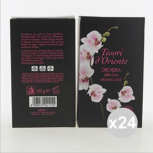 Lot 24 trésors d'Orient Savon 150 gr orchidée 150g nettoyage du corps