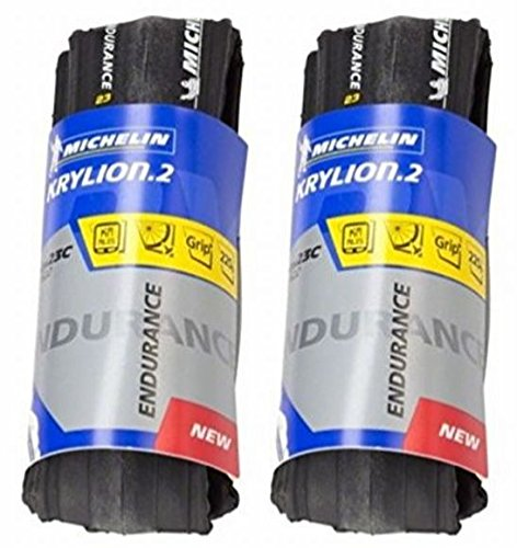 【国内正規代理店品】 MICHELIN(ミシュラン) KRYLION 2 ENDURANCE(クリリオン2 エンデュランス) ロード用クリンチャータイヤ 2本セット +zitensyadepoステッカー (700×25)