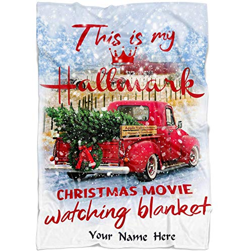 Crazy Fan Store Christmas Movies Christmas Blanket, for mom, This is My Christmas Movies, Christmas Movie Watching Blanket Quilts, Custom Name Blanket from Your Names