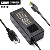 Reparo 135W 20V 6.75A AC Adapter Laptop Charger for Lenovo IdeaPad Y40-70 Y50-70 Y50-70AM-IFI Y70-70 Y700 Y700-15ISK 720-15IKB Z710 Supply Cord