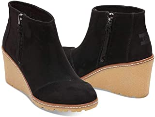 Womens Avery Faux Suede Booties Wedge Boots