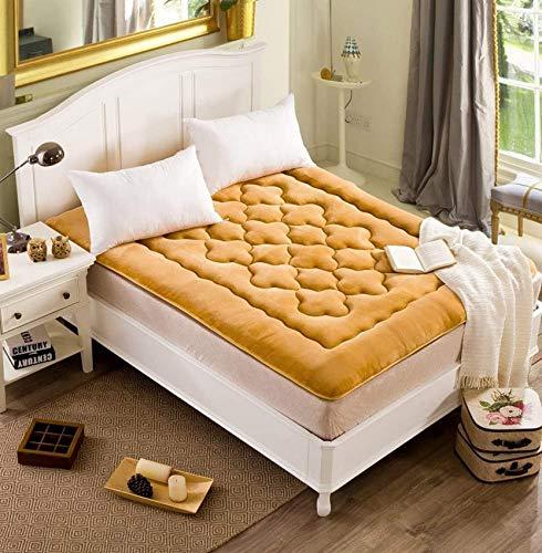 NBVCX Servicios para el hogar Alfombra de Piso dormitorioFlannel Futon colchón Topper colchonetas Plegables-B 150x200cm (59x79inch)