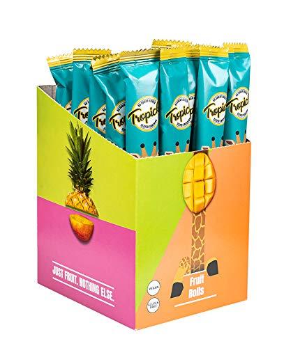Tropicks Getrocknete Früchte Rollen Ananas (30 x 27g), Der Snack Für Die Ganze Familie. Nur Obst, Sonst Nichts. Tropics Dried Fruit Rolls Pineapple (30 x 27g).