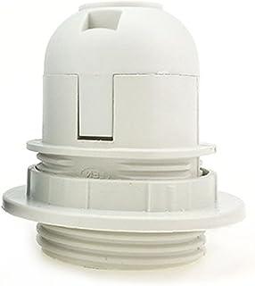 Support d'ampoule E27, douille à vis pour abat-jour LED, adaptateur de bague de col, support de lampe, lampes LED et ampou...