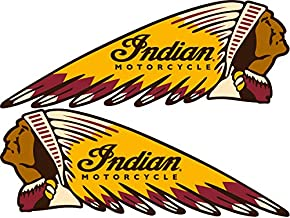 Pair of Indian Motorcycles War Bonnet Perfect for Helmets Weather Resist for Windows Car Cell Phone Bumpers Laptop (30