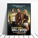 WDQFANGYI Érase Una Vez En Hollywood Carteles E Impresiones Quentin Tarantino Arte Pintura Lienzo Cuadros De Pared para Sala De Estar Decoración del Hogar 40X50Cm (FLL5049)