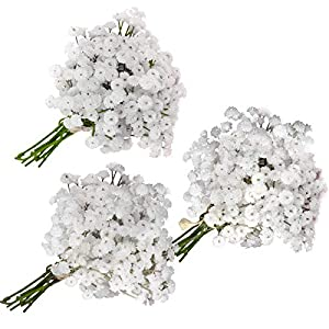 RaylKING Babys Breath Flowers Artificial Greenery Set for DIY Rustic Weddings Bouquet, Home Decoration and Table Centerpieces Decoration (Total 18 Pcs)