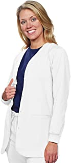 BOGO Sale-Snap Front Stretch Nursing, Medical, Dental Lab Coat for Women