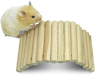 Syrian Hamster Wooden Bridge,Sugar Glider Climbing Toys,Guinea Pig Chew Toys,Dwarf Hamsters Ladder,Cage Hideout Toys for Hedgehog Rat Mouse Chinchilla Rabbit Bunny Snakes Lizards