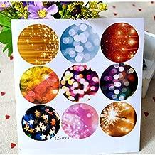 90 PCS Gift Stickers,Round Sticker,Seal Label Sticker,Japanese Sticker CSC@C Sparkle Sticker