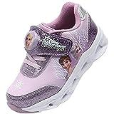 [ディズニー] アナと雪の女王2 Frozen Ⅱ エルサ アナ LEDライトアップ スニーカー 運動靴 ピカピカ 光る靴 (17.0 cm, エルサ&アナ_パープル) [並行輸入品]