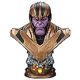 Héroe titán Figuras Busto de Thanos Estatua 38cm Obra de Arte de Resina Gran colección Conmemorativa Modelo de Juguete Juguetes coleccionables Escultura de Cabeza Decoración Regalo de cumpleaños