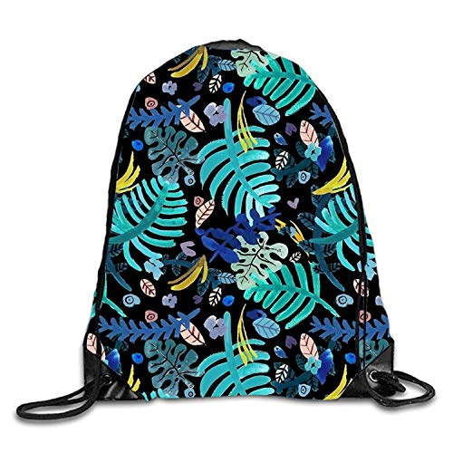 Lawenp Variety Leaves Sackpack Mochila con cordón Mochila Impermeable Gymsack para Hombres y Mujeres
