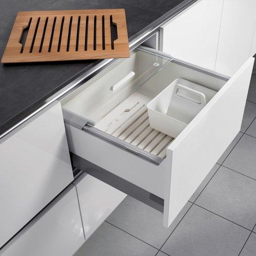 Hailo Pantry Box Küchen-Abfalleimer, Plastik, Weiß, One Size