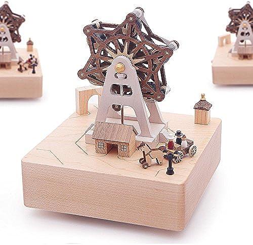 Die Music Box Music box Holz- Vergnügungspark mädchen geburtstag Geschenk kreativ Rotation, Ein