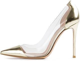 EDEFS - Scarpe col Tacco Donna - 10cm - Tacchi Alti - Trasparente Scarpe col Tacco - Tacco a Spillo