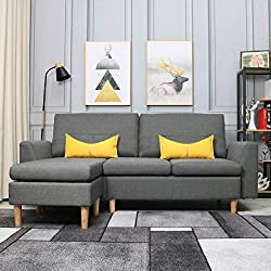 L Shaped Sectional Sofa with Chaise