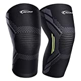 Joyfit - Knee Compression Sleeve- Knee Support for Gym, Running, Sports, Basketball, Badminton